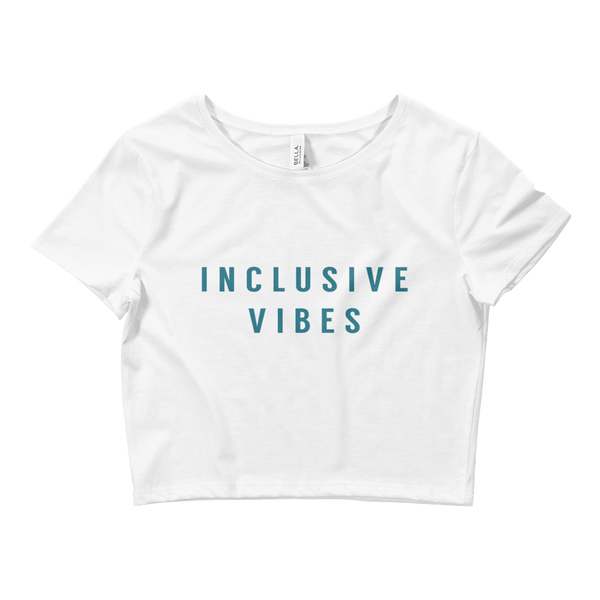 """Inclusive Vibes"" Crop Tee"