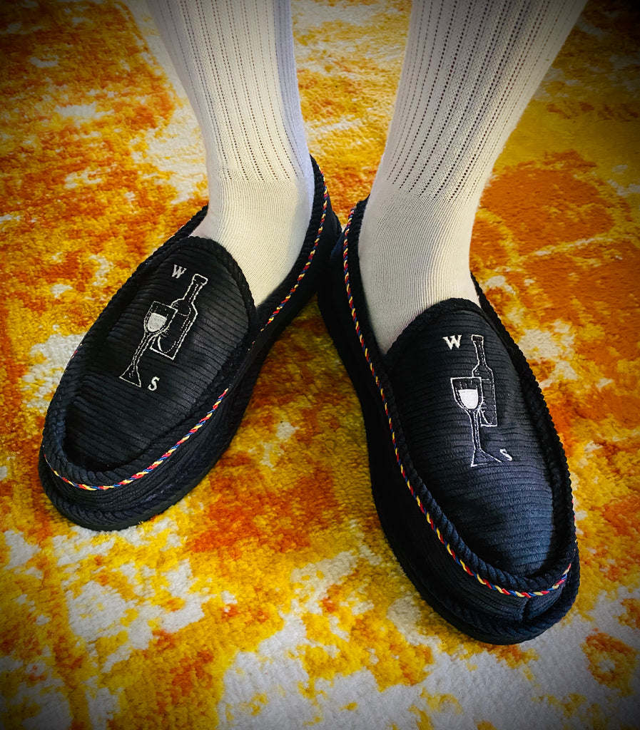 WESTSIDE Wine Slippers Mens Navy**PREORDER**