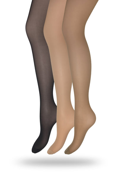 Eedor Women's Silky Control Top Reinforced Toe Sheer Pantyhose