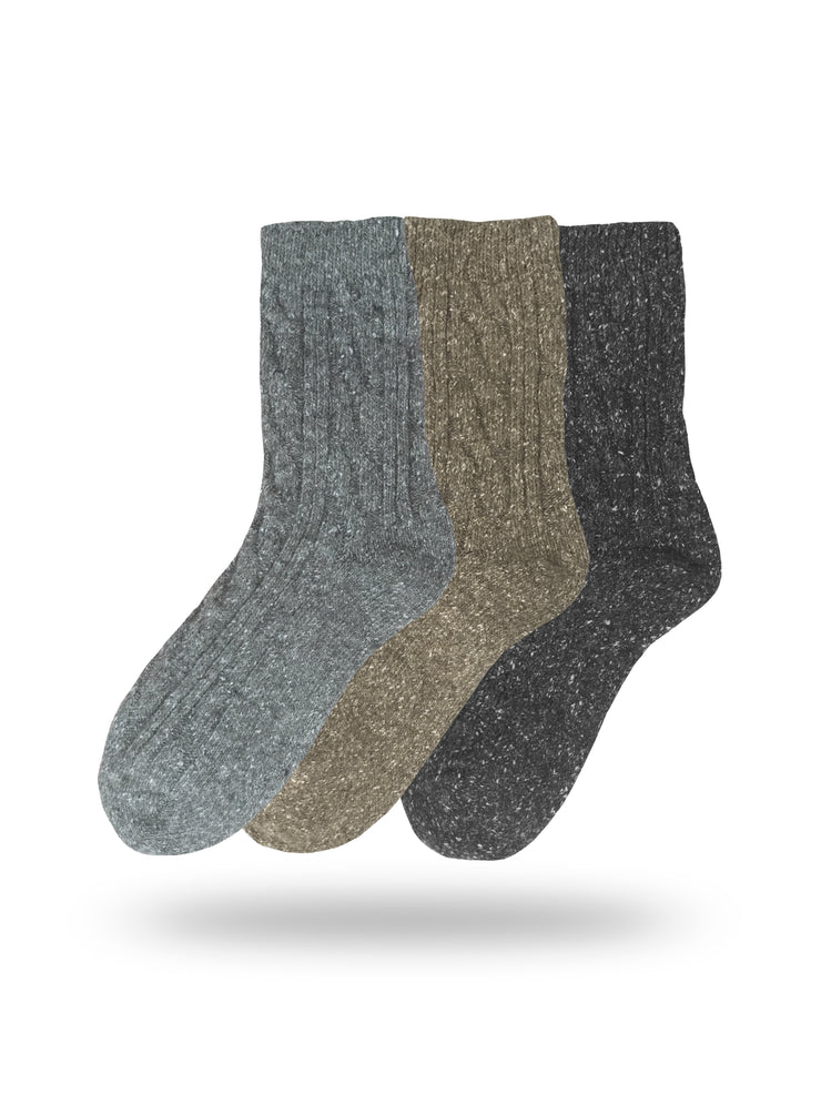 Eedor Women's Cable Knit Warm Winter Wool Crew Socks