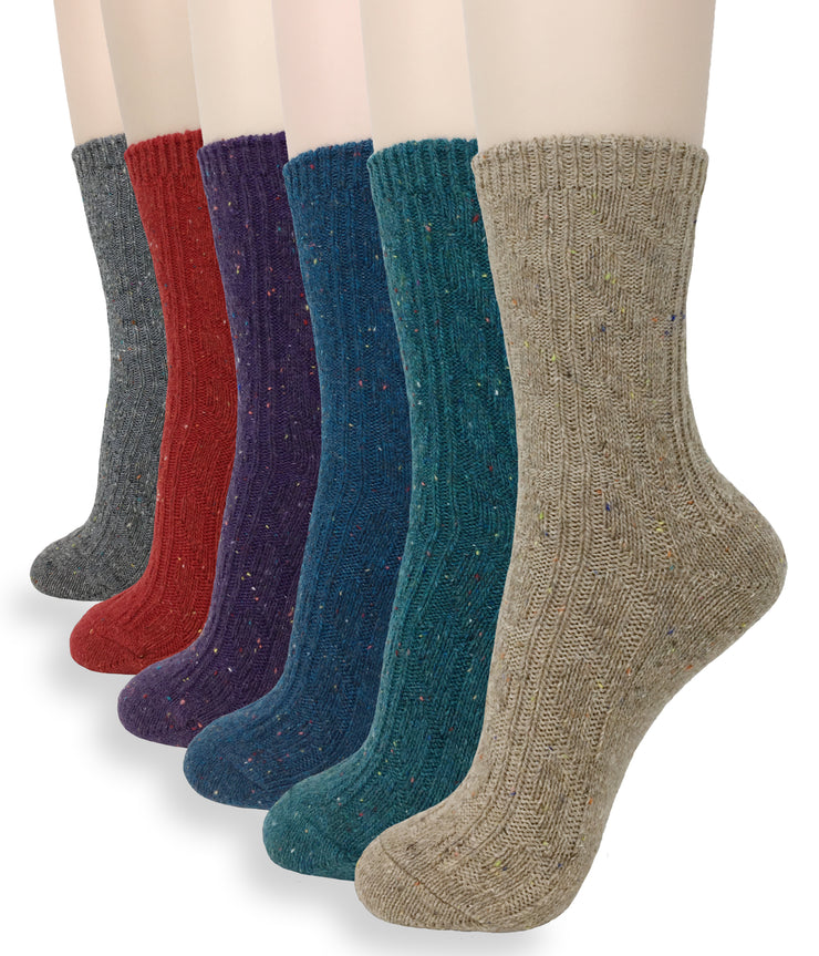 Eedor Women's Warm Winter Knitted Wool Crew Socks