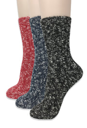 Eedor Women's Thick Speckled Winter Knit Thermal Crew Socks