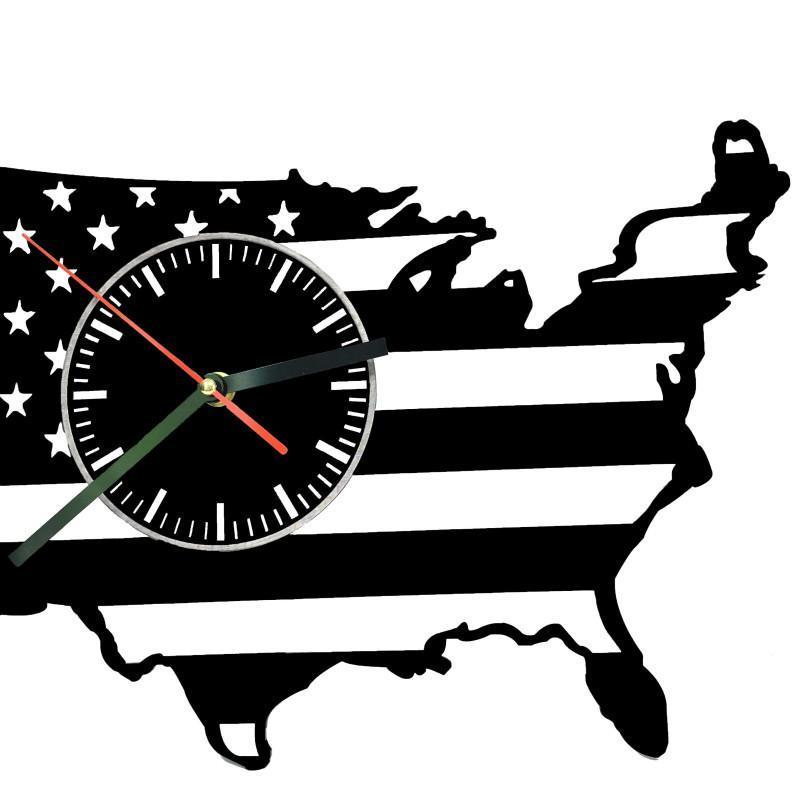 United States Of America Silhouette Map Wall Clock – Monkstars