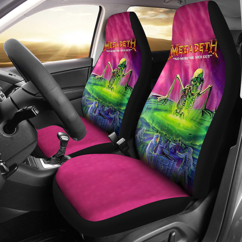 2pcs Pink Megadeth Car Seat Covers