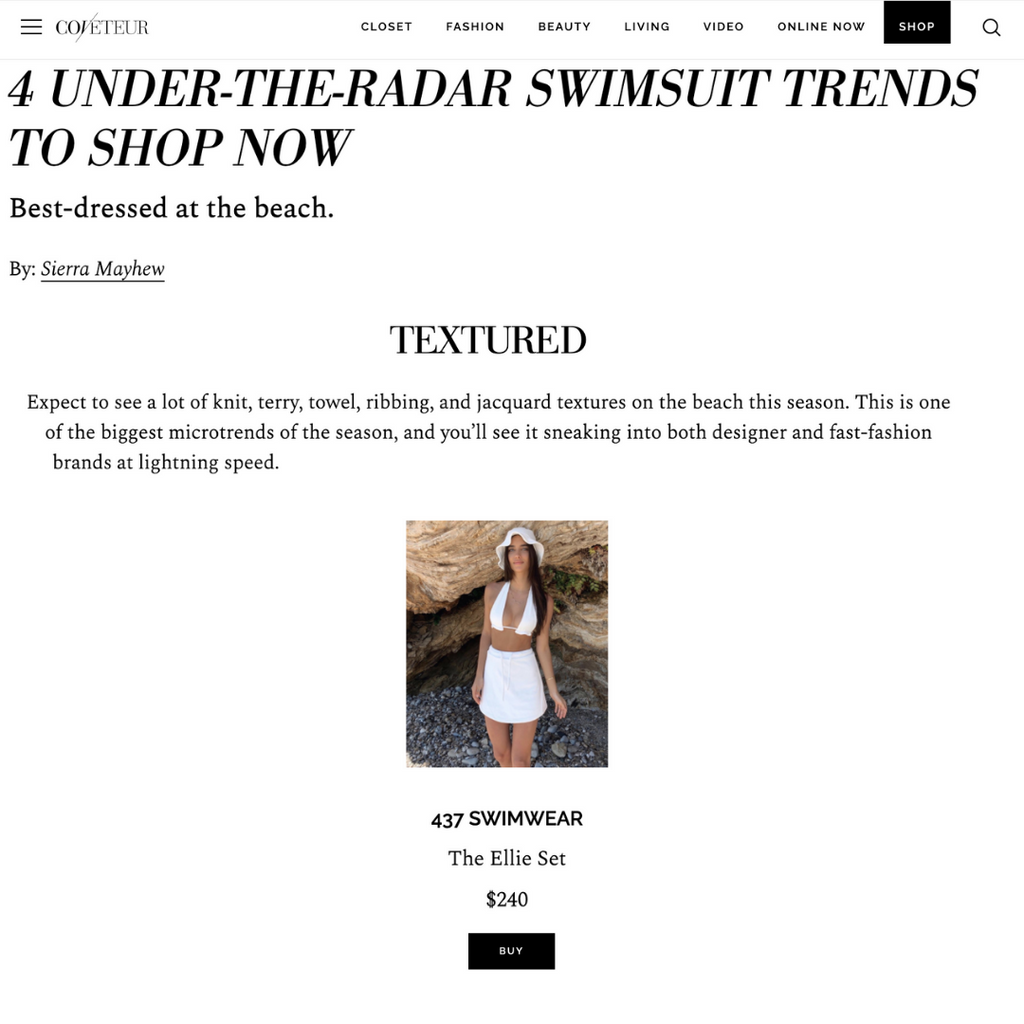 COVETEUR: Under-the-radar swimsuit trends to shop now