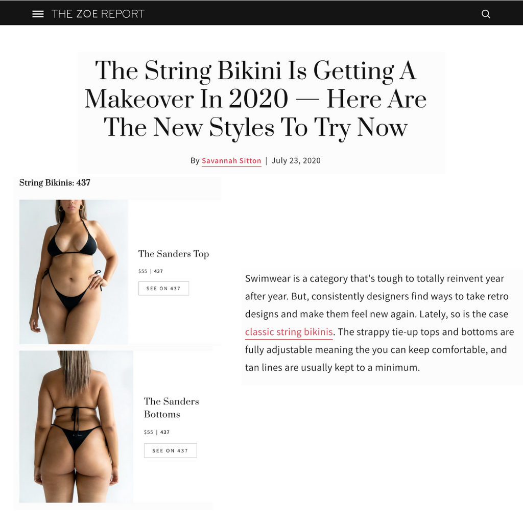 THE ZOE REPORT: The string bikini is getting a makeover