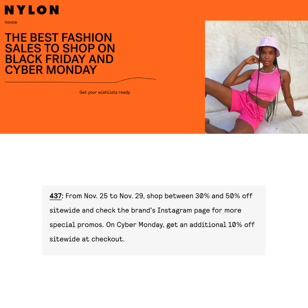 NYLON: The best 2020 Black Friday sales