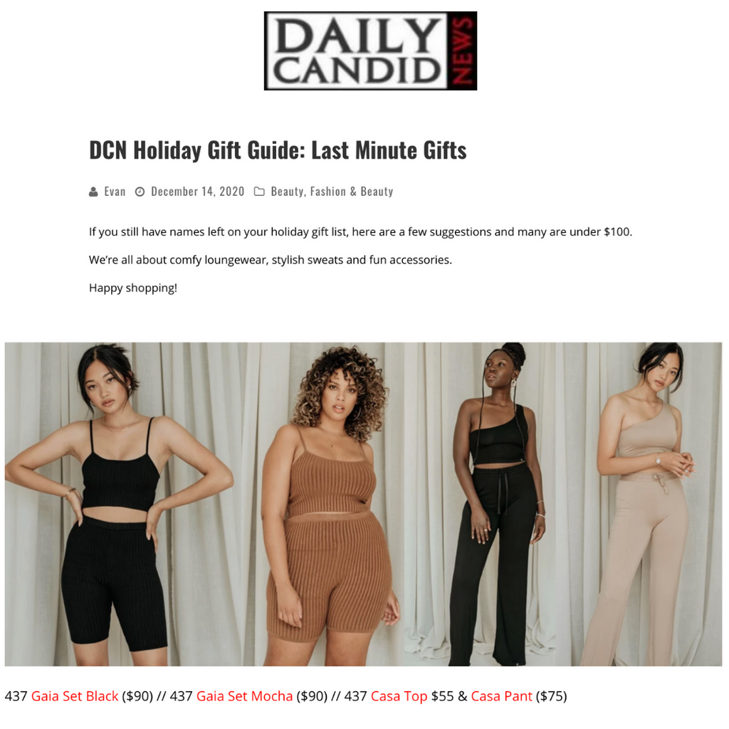 DAILY CANDID NEWS: Last Minute Gifts