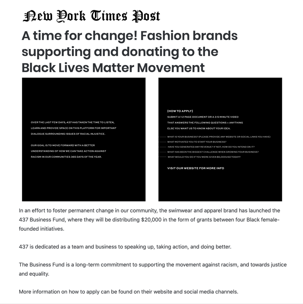 NEW YORK TIMES POST
