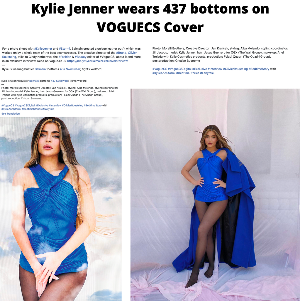 Kylie Jenner wears 437 Bottoms in VOGUE CS Cover