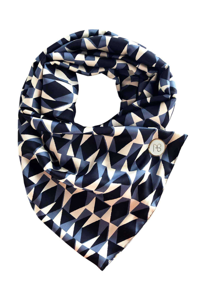Blue Satin Scarf Cielo