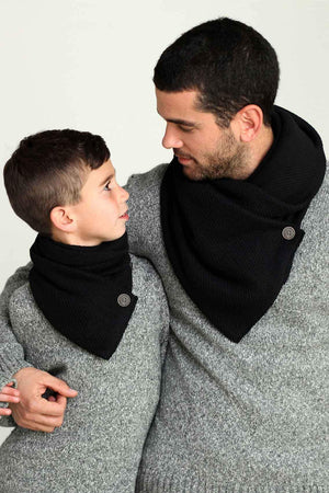Men's Knitted black scarf Veronica