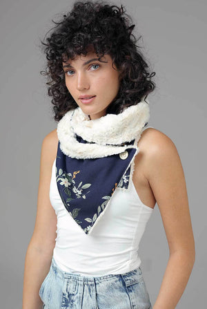 Double-sided Fur Scarf Emiliana