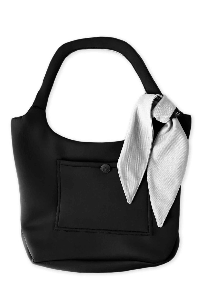 Grey and Black Double-Sided Bag + Headband - Grey