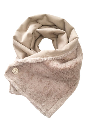 Suede And Fur Scarf Michelle