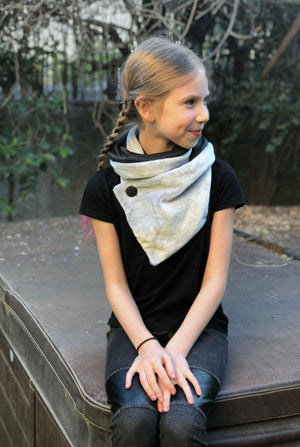 Double-sided Fur Kids Scarf Perla