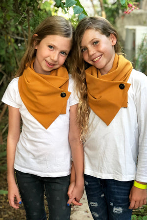 Matching Mustard Kids Scarves Missy Minime
