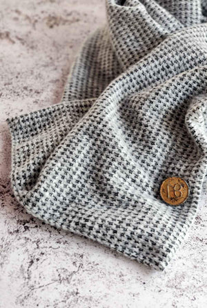 Grey Pepita Men's Scarf Odelia