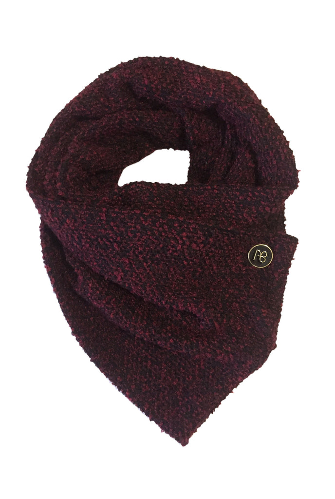 Knitted Burgundy Scarf Roma