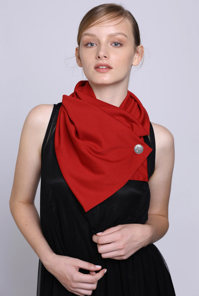 Perfect Red Basic Ruby Scarf