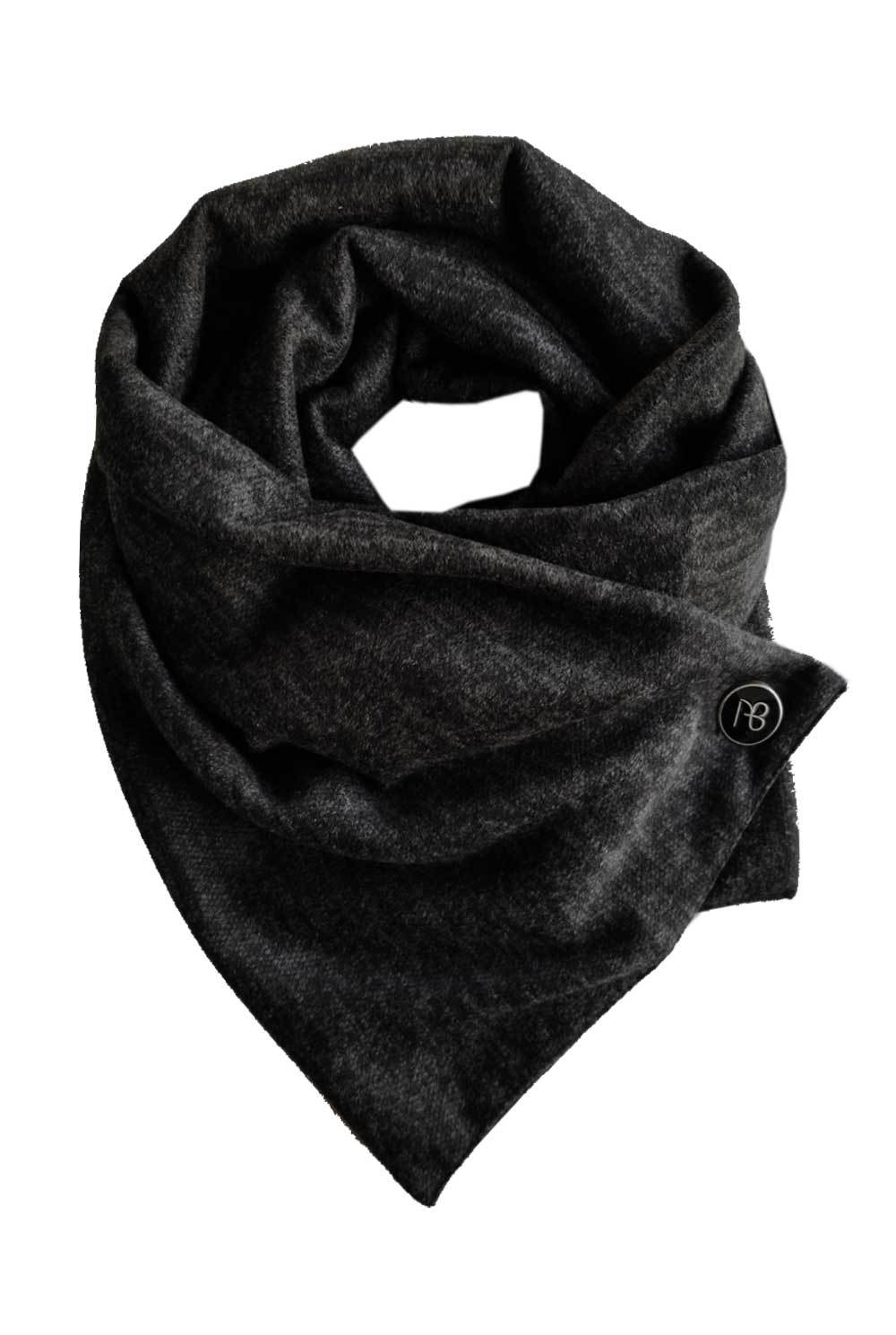Black Melange Men's Scarf Alberto
