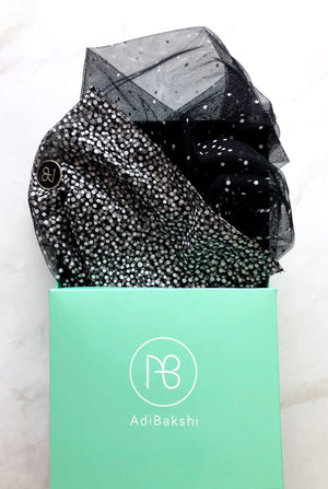 Black Tulle Scarf Audrey