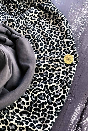 Urban Grey Leopard Print Nursing Cover With Boning