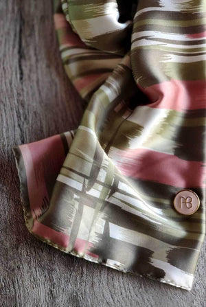 Abstract satin Scarf Peleg