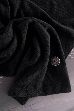 Knitted black scarf Veronica