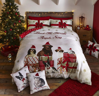 Christmas Party Animals Christmas Bedding