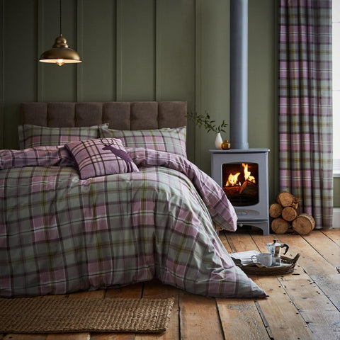 Heritage Kelso Check Heather Bedding