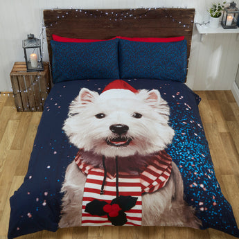 Westie Christmas Bedding