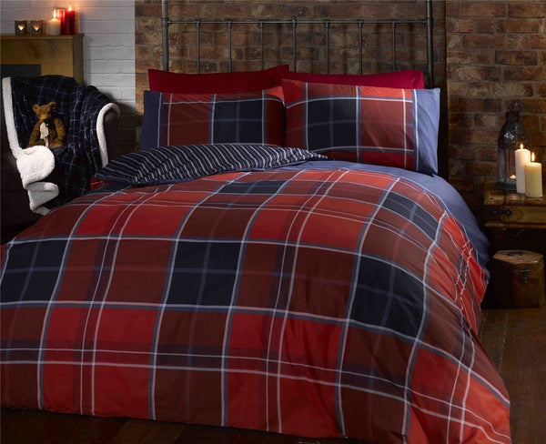 Argyle Red Bedding