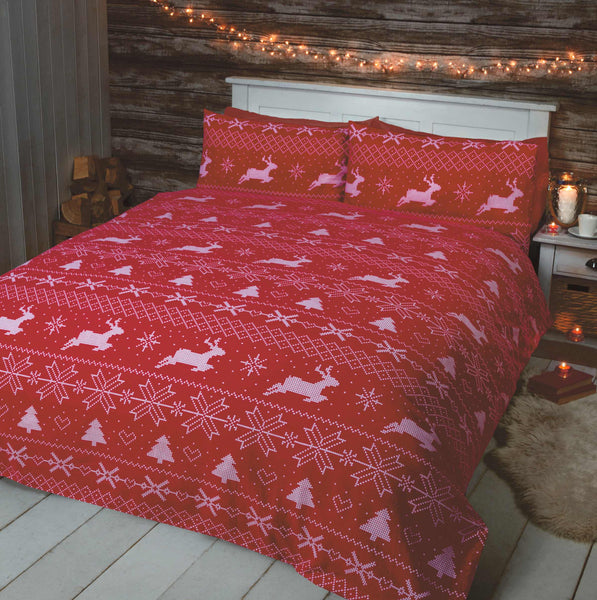 Bergen Red Christmas Bedding