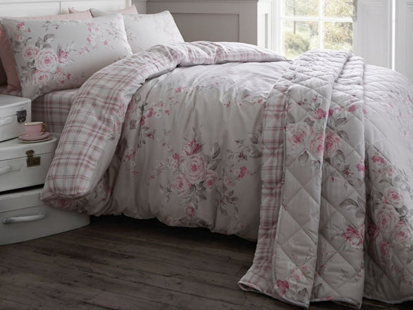 Canterbury Brushed Check Dove Grey Bedding