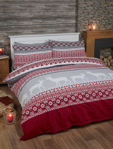 Fairisle Red Christmas Duvet Covers - Xmas Bedding – Christmas Bedding