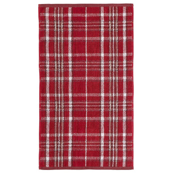 Heritage Check Red Towel