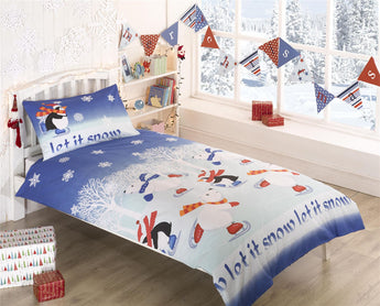Kid's Let It Snow Christmas Bedding