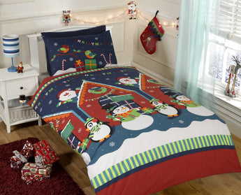 Santa's Grotto Christmas Bedding