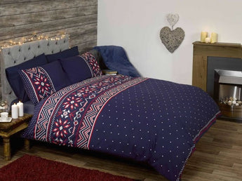Nordic Blue Christmas Bedding