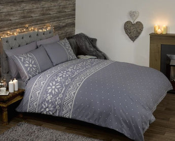 Nordic Grey Christmas Bedding