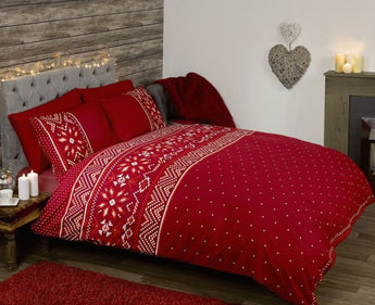 Nordic Red Christmas Bedding