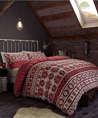 Oslo Red Christmas Bedding