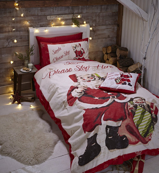 Retro Santa Christmas Bedding
