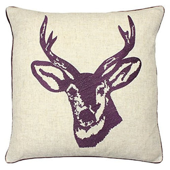 Stag's Head Cushion Cover