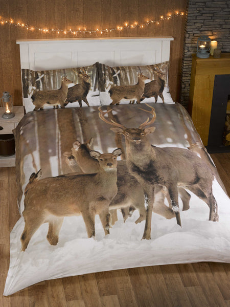 Winter Stag Christmas Bedding