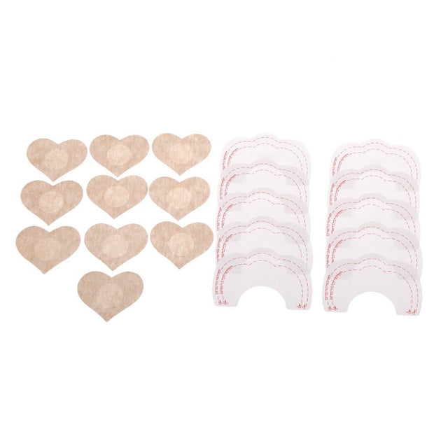 Adhesive bra lifts + nipple covers (pack) - Paprika Belle