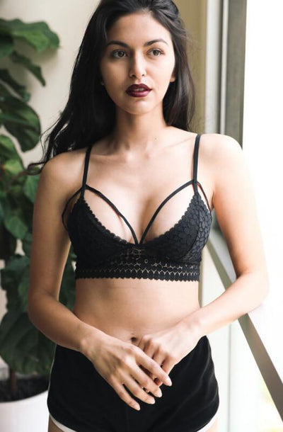 The Daisy Bralette Black - Paprika Belle