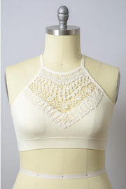 The Rupi Bralette Ivory Plus - Paprika Belle