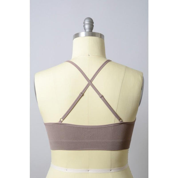 The Rupi Bralette Mocha Plus - Paprika Belle